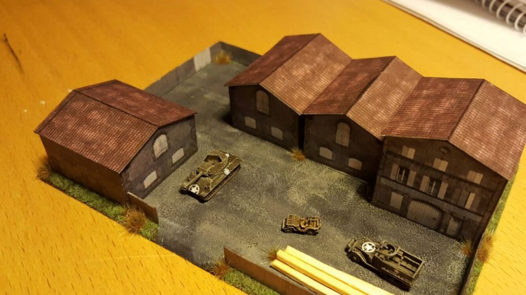Die Fabrikanlage im Maßstab 1:285 (6mm) nach Besetzung durch alliierte Truppen.