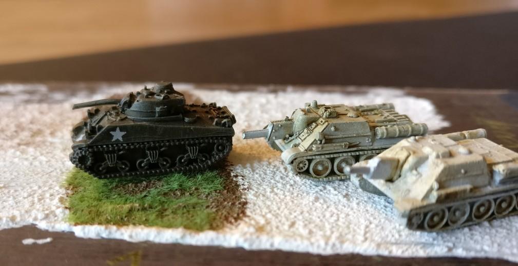 Hier stehen Schörmi und SU-122 traut vereint auf dem Textbereich.