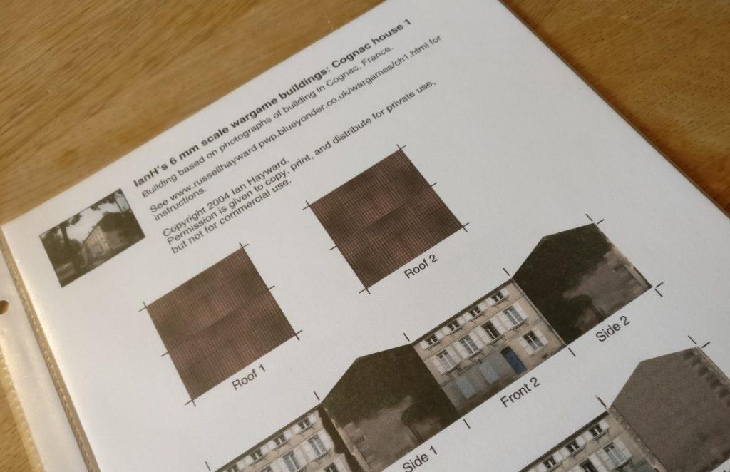 Der Bastelbogen von IanH für papierhäuser in 6mm.