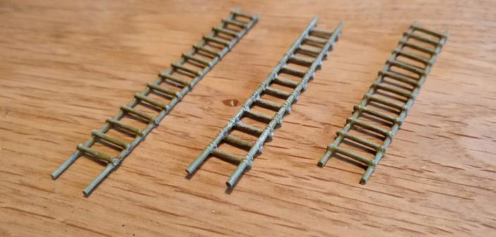 Die Bambus-Leitern als Typ #3. Die hat Plasti am liebsten, denn die passen so richtig gut in das Vietnam-Szenario.