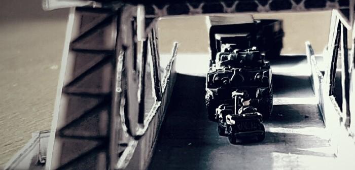 Pegasus-Bridge: 6mm-Diorama der Operation Tonga