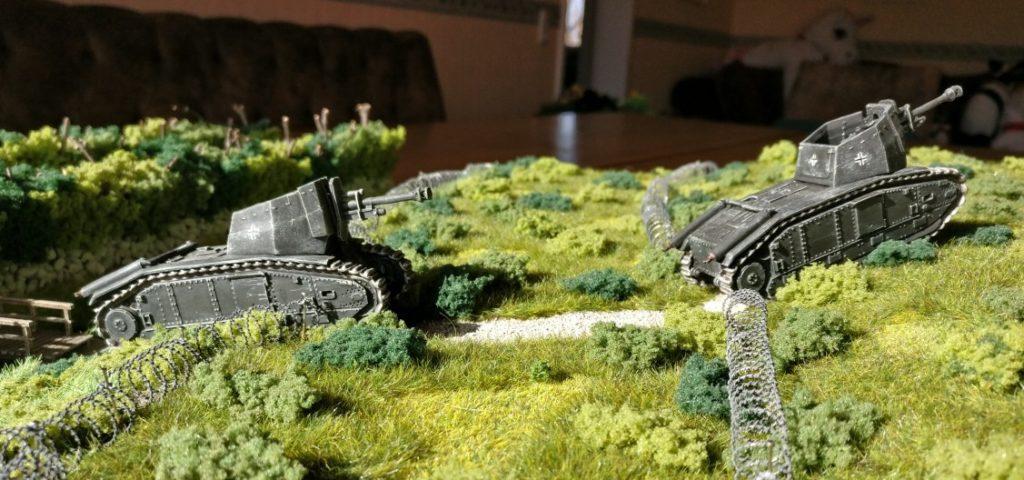 Die 4. Batterie des II./Artillerie-Regiment 93 auf dem Marsch.