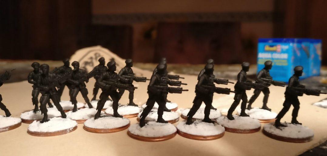 Hier die Herren des 7th Marine Regiment aus anderer Perspektive. Die gute Modellierung der Figuren wird schnell deutlich.