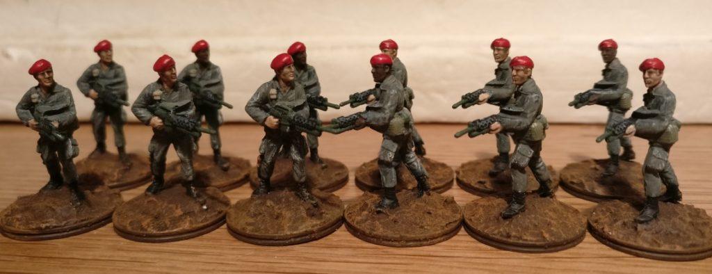 Das Offizierskorps des 7th Marine Regiment.