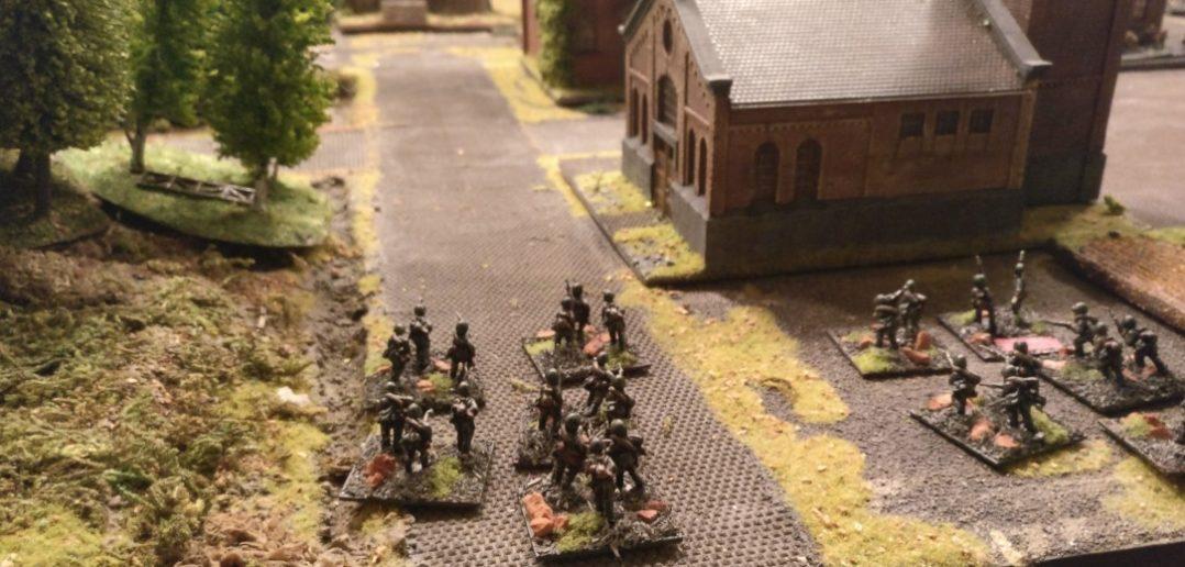 Zwei Einheiten versuchen sich an der schwächeren deutschen Flanke.