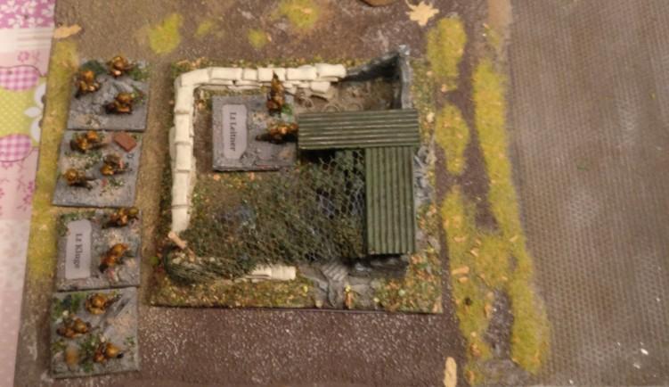 Leutnant Kluge mit seinem Zug-Gefechtsstand.