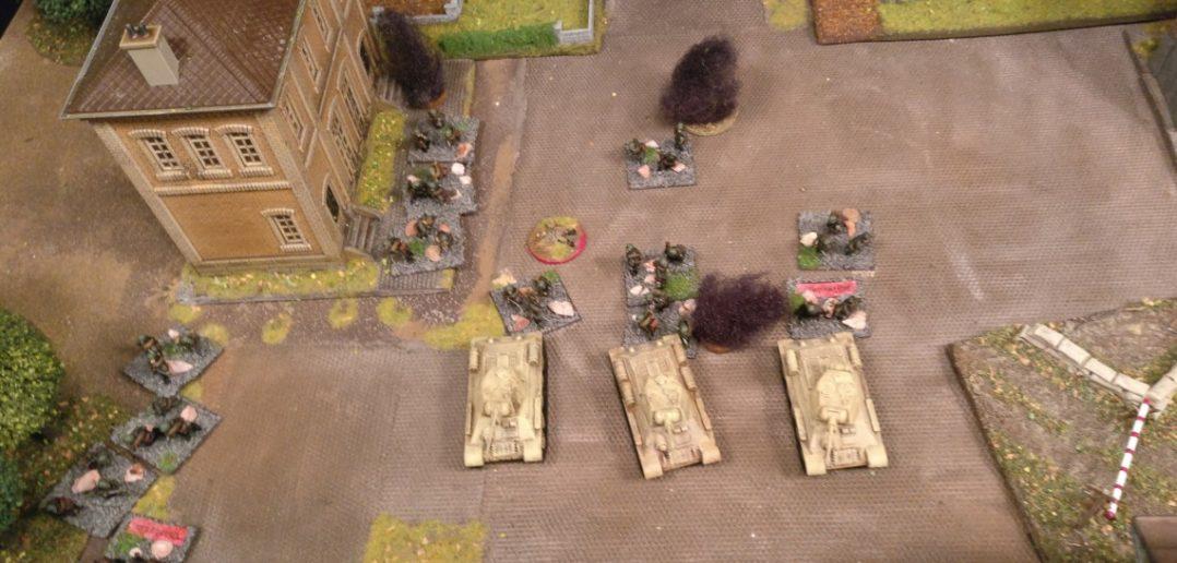 Das deutsche Gegenfeuer pinnt die Infanteristen.