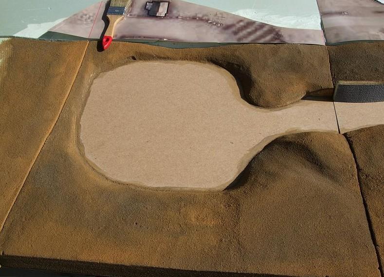 Doncolor behandelt das Erdreich mit Lasuren und Trockenbürstungen.