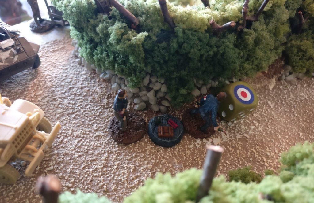 1. Zug: als erstes macht sich ein Trupp der Resistance auf den Weg nach Vorne.