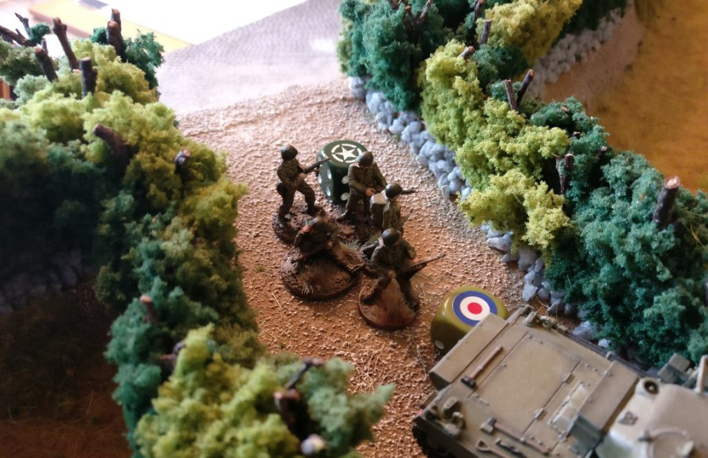 Die US Army schiebt einen Infanterietrupp nach.