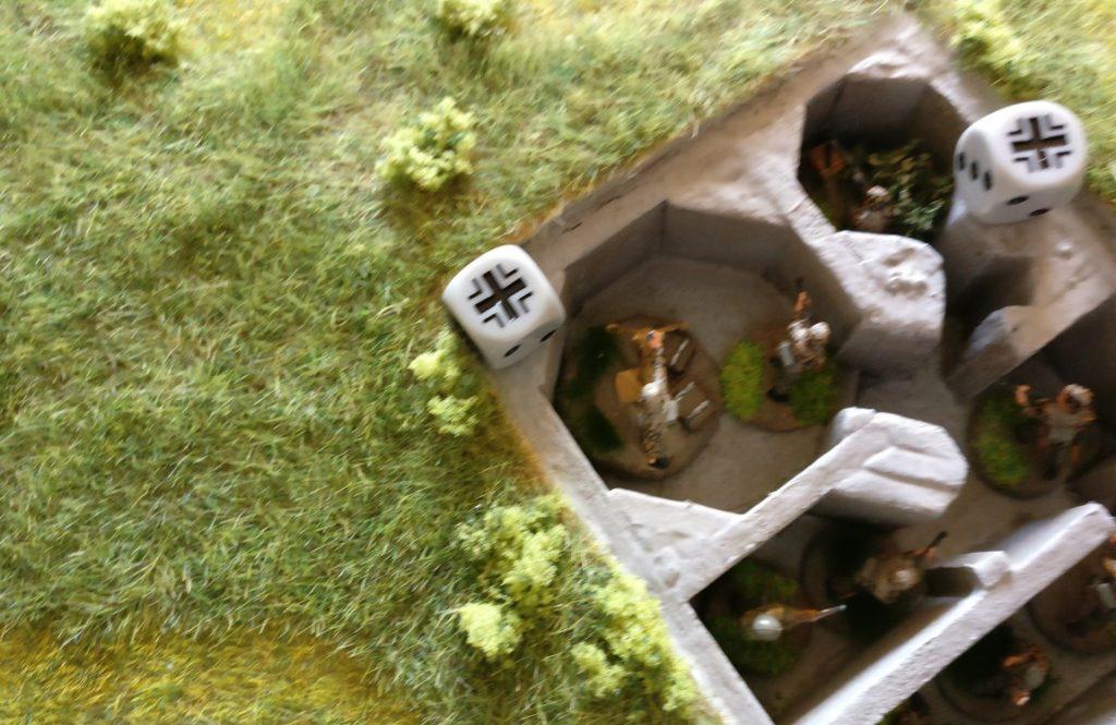 Der Granatwerfer-Trupp im Tobruk-Bunker geht ebenfalls in Gefechtsbereitschaft.
