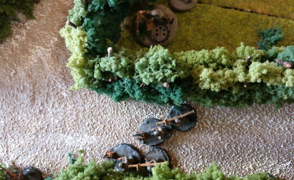 Der Sniper nimmt den einen Panzerabwehrtrupp der Deutschen ins Visier.
