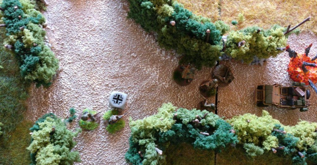 Zwei Grenadiere eröffnen das Gefecht in der zehnten Runde.