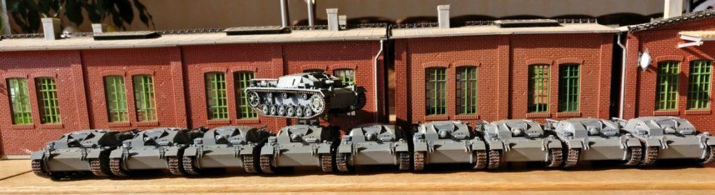 Serienfertigung meiner geliebten StuG III Stummel-Stugs