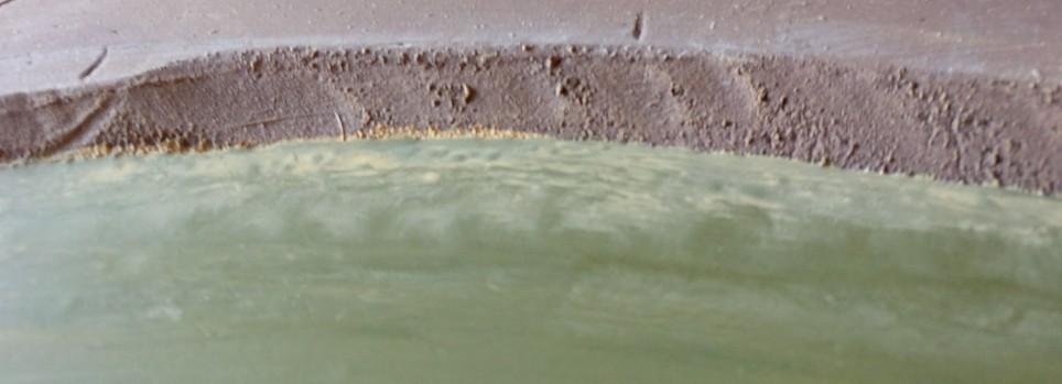 Eine fast völlig überspülte Sandbank.
