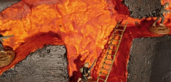 Vietnam-Spielplatte: Making of #4 - der Abstieg in Charlys Wohnzimmer