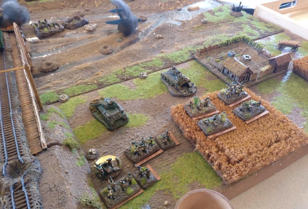 Der rechte Flügel: ein Infanteriezug, kein Panzer.