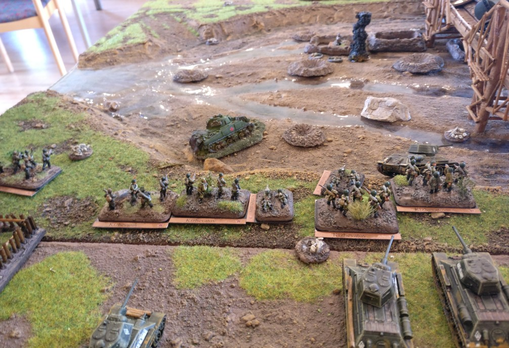 Spielfehler des Sturmi: die Züge der Roten Armee splitten sich auf. Später im Spiel dann gab es Probleme bei der Aktivierung.