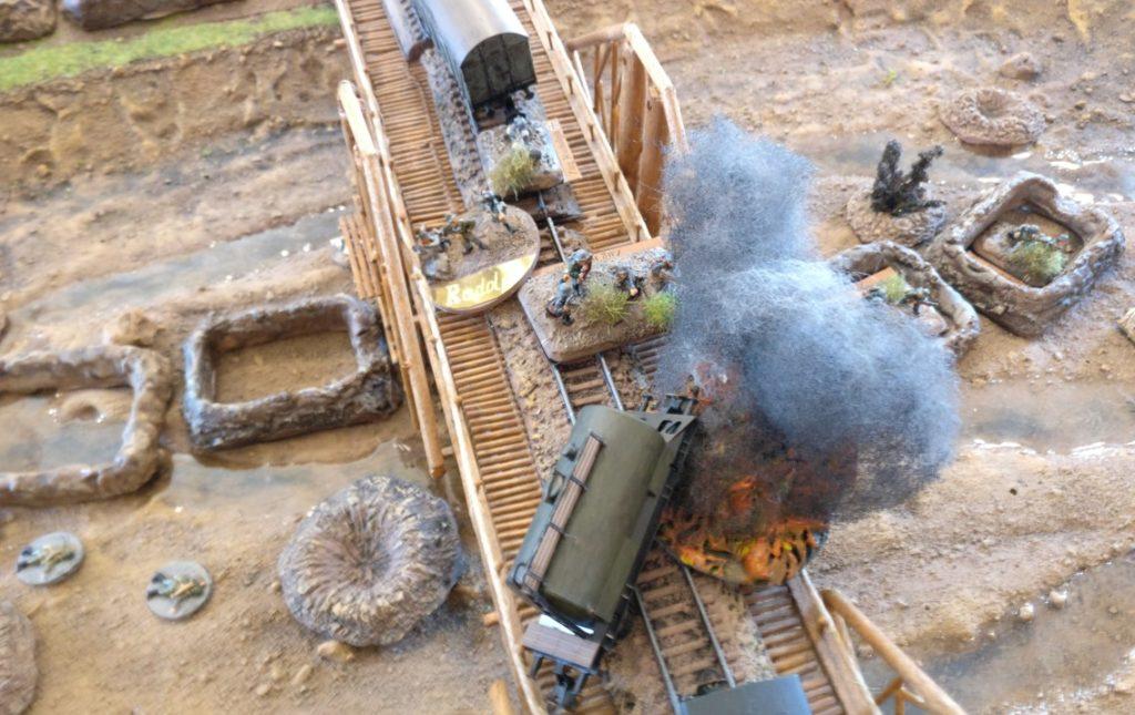 Im Laufe des Spiels geriet der deutsche Zugführer in den Mittelpunkt des Geschehens.
