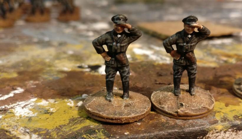 Die beiden Offiziere für das MG-Bataillon 17