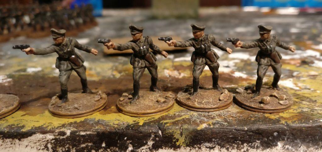 Die vier Offiziere des Kradschützen-Bataillon 40
