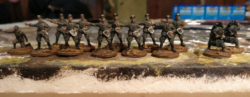 Offizierskoprs des Grenadier-Regiment 57 (und zwei Flammenwerfer...)