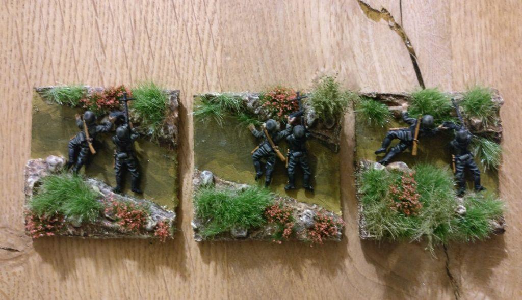3 MG-Teams aus dem Matchbox Set P5003 German Infantry