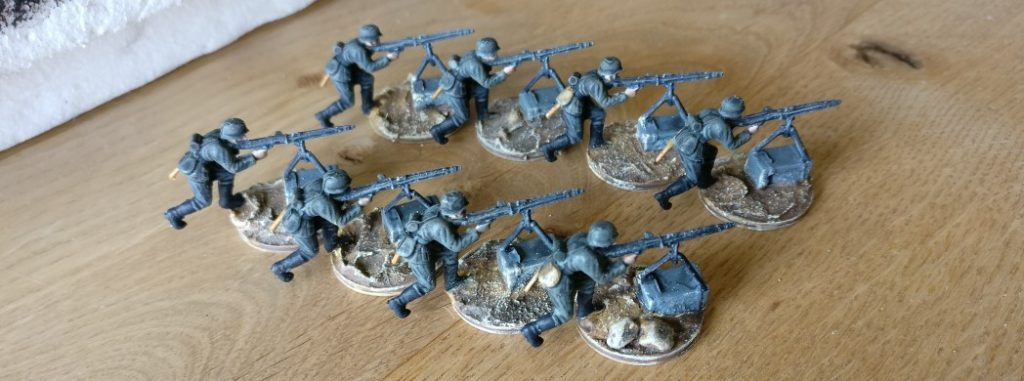 8 MG-Schützen aus dem ESCI Set 0201 World War II German Soldiers