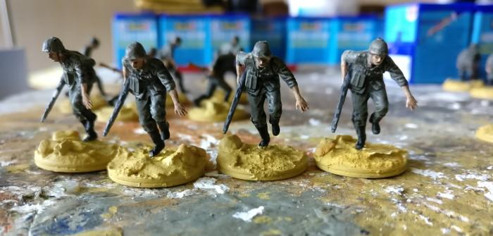 MG-Bataillon angetreten!
