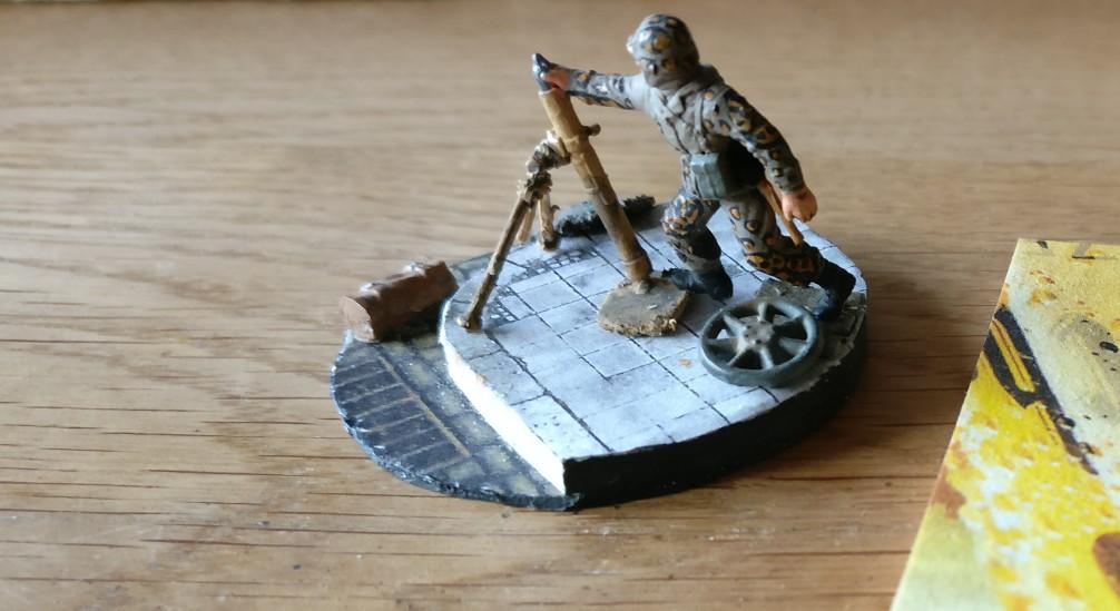"""Vorbild für eine PBI-Base """"Saint-Aubin-Sur-Mer"""": eine 3cm-Base aus dem Grenadier-Regiment 736"""