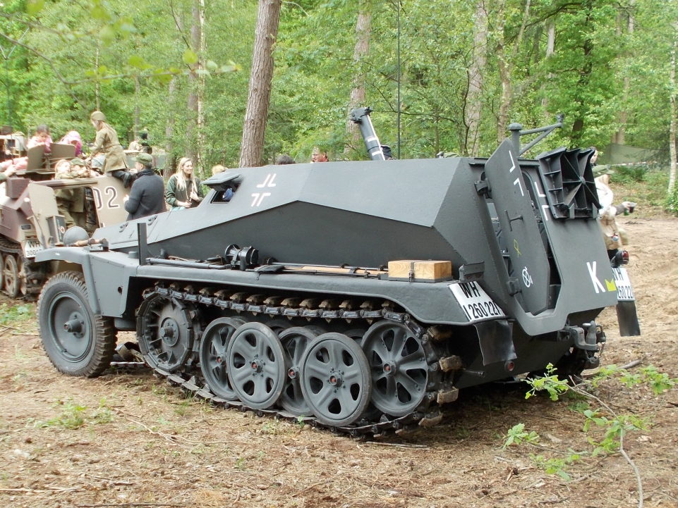 Sd.Kfz. 250/7 – leichter Schützenpanzerwagen (schwerer Granatwerfer) auf der Militracks in Overloon