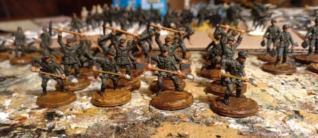 Die Herren von der Bautruppe des  Pionier-Bataillon 37