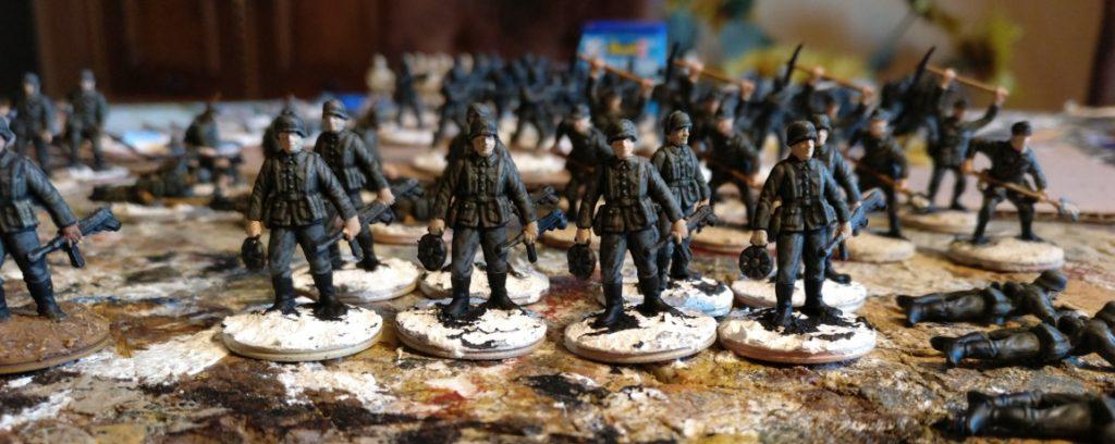 Acht Schützen des Schützen-Regiment 1