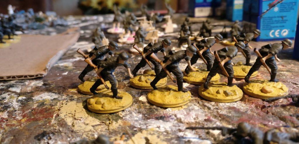 Weitere acht Schützen des Schützen-Regiment 1