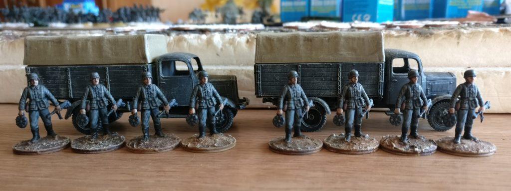 Die acht Schützen aus dem Esci Set 201 German Soldiers