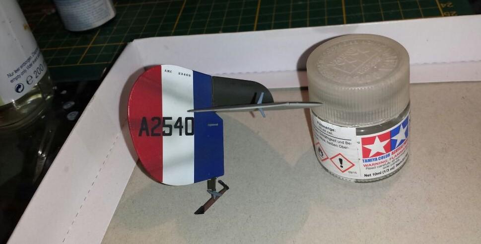 Das Leitwerk der Wingnut Wings AMC DH.2