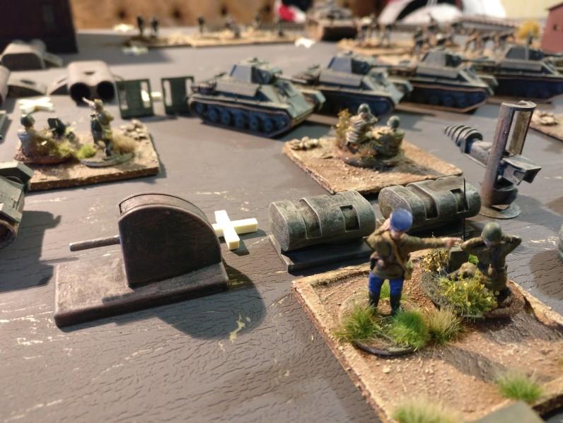 Der russische Platoon Commander nahe dem Maschinenleitstand...