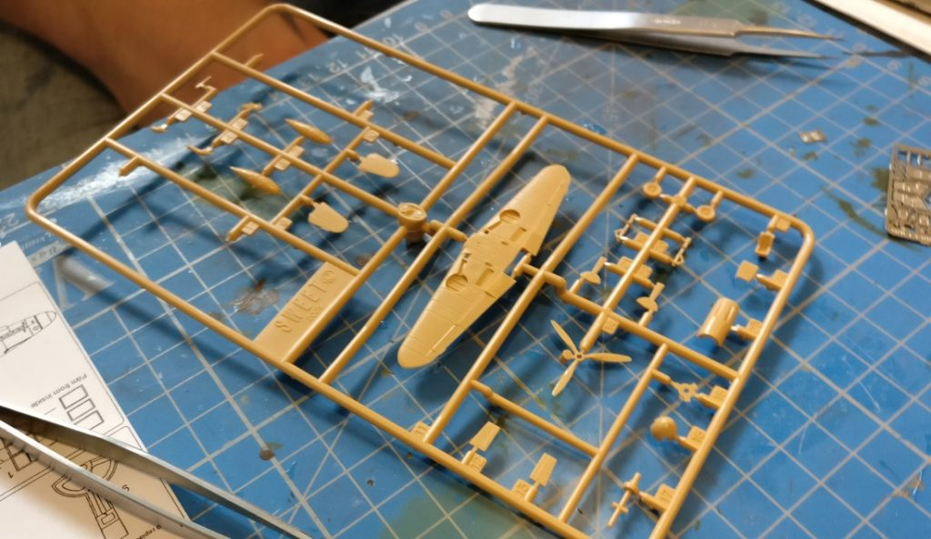 Als neue Aufgabe hatte Max eine Bf 109 des japanischen Herstellers SWEET ausgewählt.