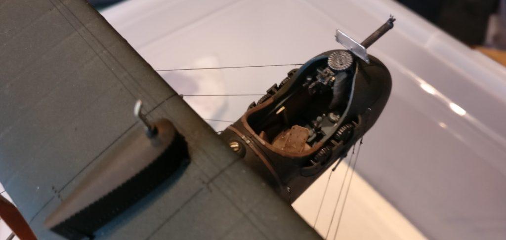 Das Cockpit der Wingnut Wings AMC DH.2