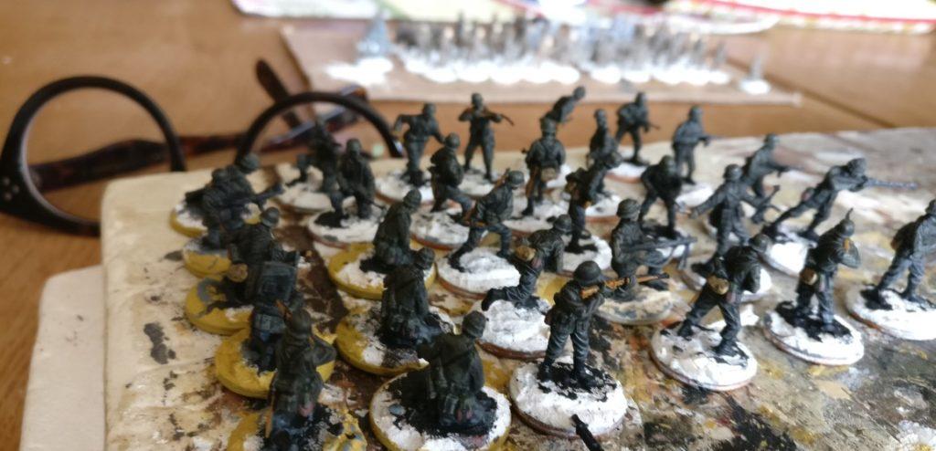 Und wieder einige Restanten: 30 Schützen für das Schützen-Regiment 113.