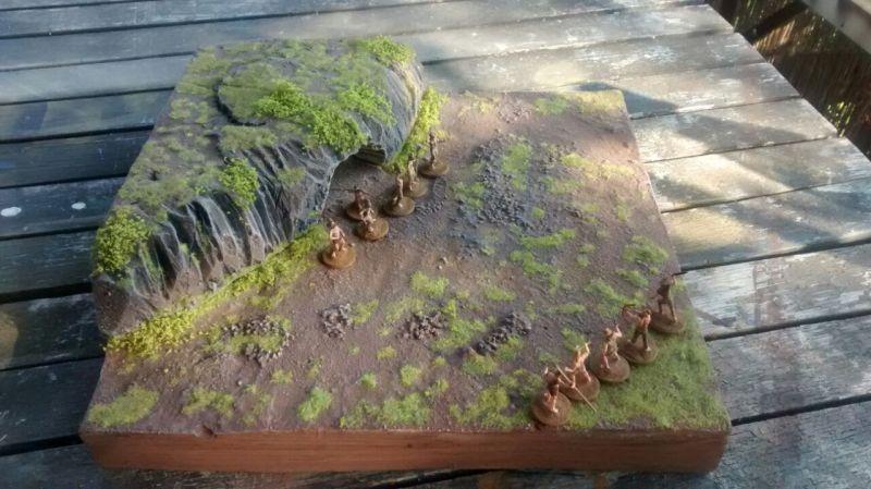 Das steinzeitliche Spielfeld aus der Vogelperspektive.