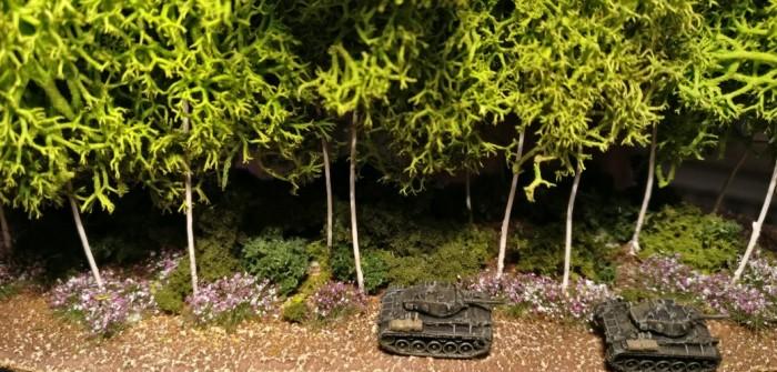 Wald im Maßstab 1:285 #2: vom mutigen Umgang mit Farbe