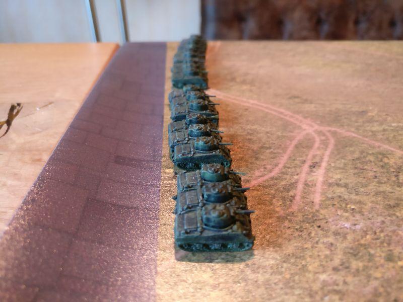 Das 3rd Tank-Battalion mit seinen drei Kompanien.