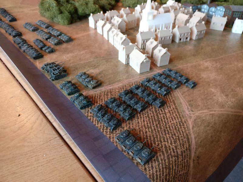 Der Aufstellbereich der US-Truppen im Gesamtüberblick.
