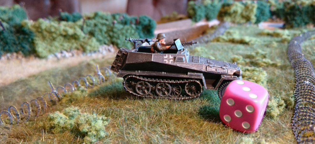 """Der Panzerungswurf mit dem einen W6-Würfel ergab dieses Mal nur """"3"""" Augen. Er ist misslungen, die Panzerung gilt als durchschlagen."""