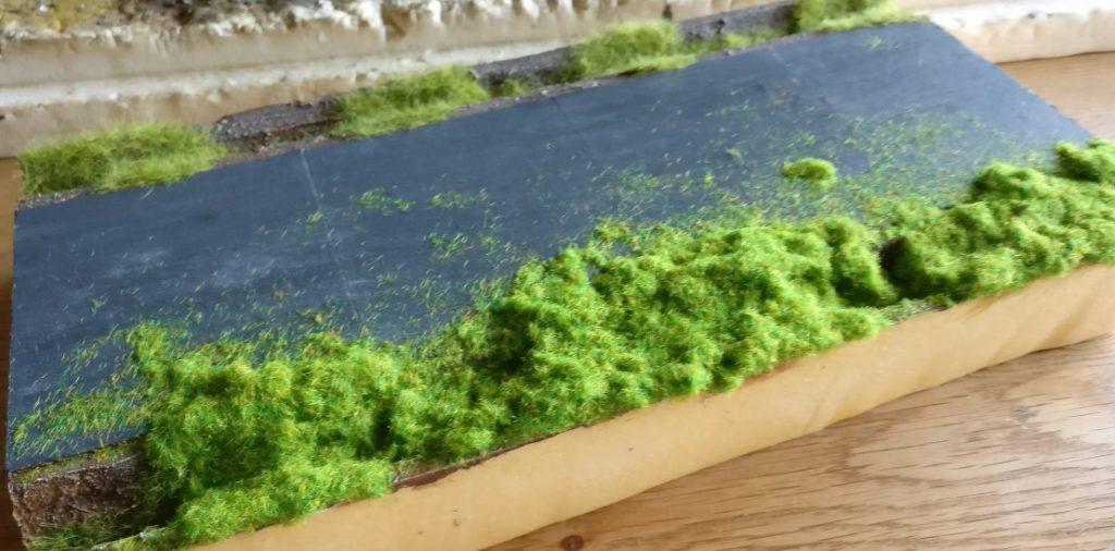 Hier liegt gerade das 2,5mm-Gras auf.