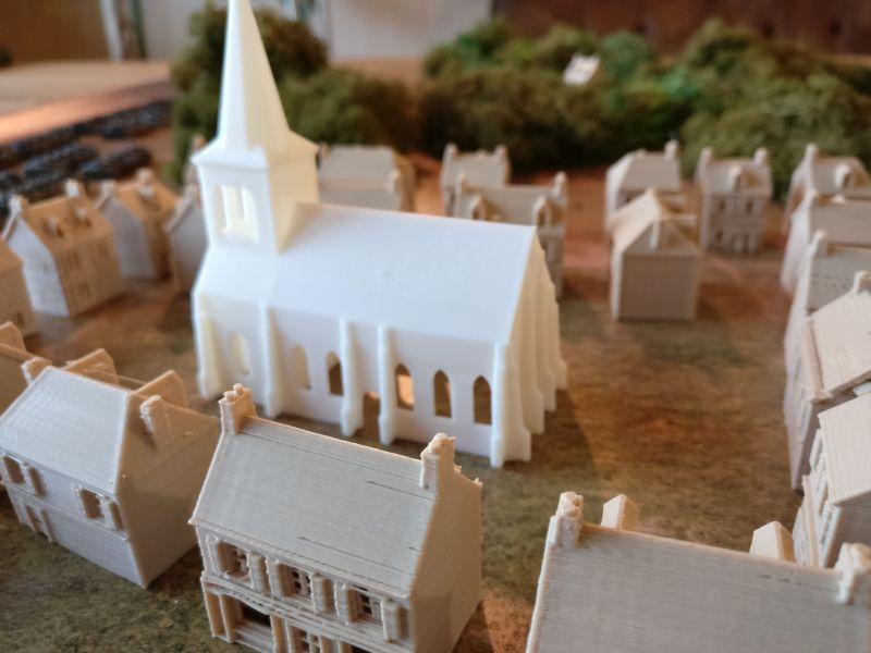 Die Kirche im Zentrum von Houffalize.