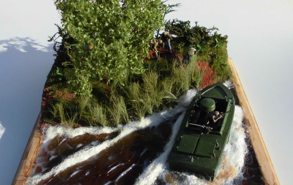 Light SEAL Support Craft (LSSC) im Mekong-Delta. Ein Diorama mit dem Bausatz des Herstellers MK72 von Jan Sobieski
