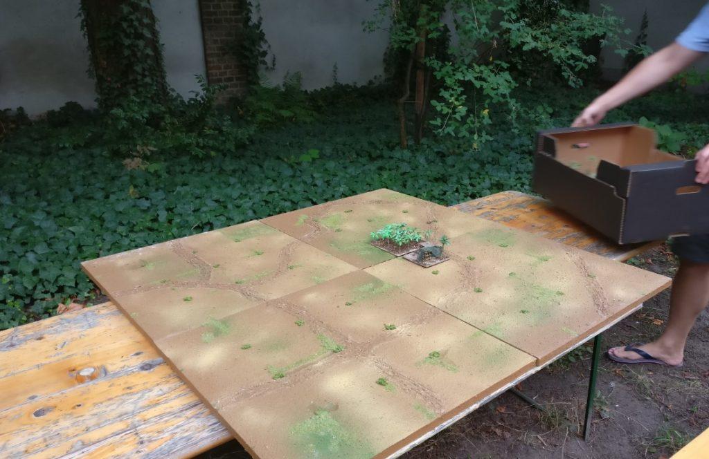 Die gräfliche Spielplatte, noch recht unbewaldet...
