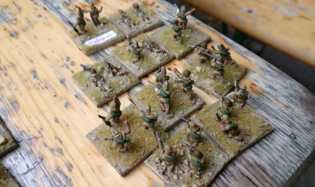 Der 1. Infanteriezug der kaiserlichen Kompanie auf Wake Island